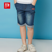 jjlkids季季乐童装男童夏季牛仔时尚短裤百搭牛仔七分裤中大童裤薄款