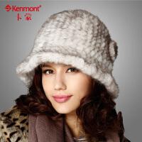 kenmont冬天帽子女士 水貂帽子礼帽 时尚皮草帽1352