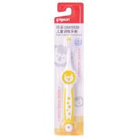 【当当自营】Pigeon贝亲 儿童训练牙刷(3-6岁) 嫩黄单支装 11805 贝亲洗护喂养用品