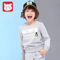 专柜同款 小猪班纳童装男童长袖套装2017秋装新款儿童中大童运动套装休闲外出服