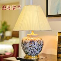 纽曼米莱 欧式宫廷台灯创意彩绘陶瓷卧室床头客厅装饰台灯具