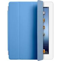 ikodoo爱酷多 iPad4保护轻薄支架型皮套 iPad3保护套iPad2保护套 ipad保护套 Smart Cover智能休眠套 单前盖 蓝色 iPad4 smart cover iPad4平板电脑保护套 iPad4 磁吸前盖