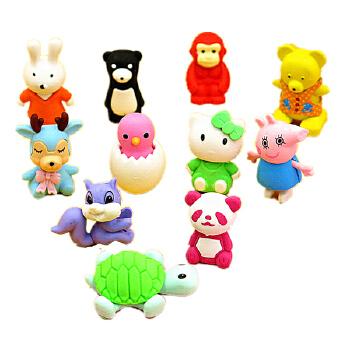 韩国创意文具 学生用品 可爱可拆小乌龟橡皮擦 学生奖品买10包送1包
