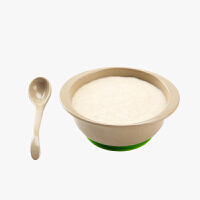 当当优品 壳氏唯稻壳环保儿童餐具套装宝宝婴儿辅食吸盘碗勺 (草绿)
