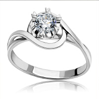 梦克拉  pt950钻戒钻石结婚戒指醉爱54分 创意礼品