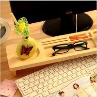 家居办公实用电脑桌面木质键盘收纳架 创意整理置物架