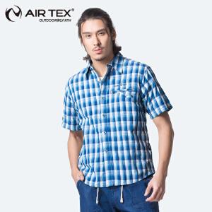 【AIRTEX亚特】夏季清凉防紫外线透气吸湿排汗短袖男式速干衣