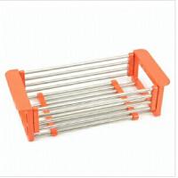 普润不锈钢沥水架可伸缩碗碟架置物架 厨房用品碗架收纳碗盘架