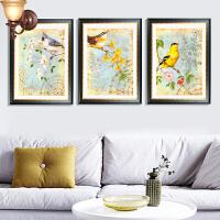 墨菲 美式乡村客厅装饰画 欧式古典花鸟挂画 现代餐厅卧室墙壁画