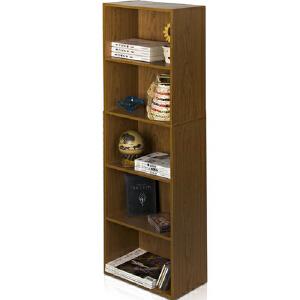 [当当自营]慧乐家 鲁比克五层组合书柜11055 深红樱桃木色 书架书柜 收纳储物柜子 优品优质