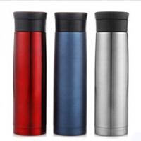 普润 500ML全304不锈钢车载杯 便携式双层保温杯 高端保温瓶