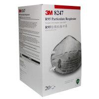 北京现货  3M活性炭口罩8247 R95防有机气体/防甲醛/PM2.5/二手烟 20只/盒