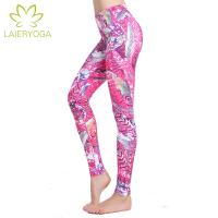 来尔 瑜伽服新款 高端女士 瑜珈长裤 束腿裤 健身裤 跳操裤 花色舞蹈裤