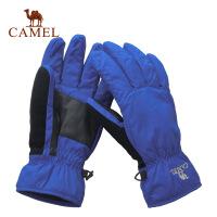 CAMEL骆驼 户外手套 男款秋冬新品 尼龙防水自行车手套 2F20083