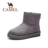 camel骆驼女鞋 新款保暖雪地靴 加厚防寒短靴 简约平底女靴子