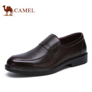 camel骆驼男鞋 新品 商务休闲帕纳牛皮舒适耐磨男士皮鞋子