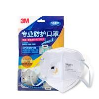 3M 9001V(耳带式)带阀口罩 KN90 防尘防雾霾PM2.5 消费品包装3只装