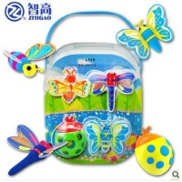 智高3D彩泥12色三D玩具套装KK5033昆虫模具(蜻蜓蝴蝶等)