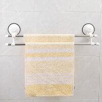 双庆 1925家居强力吸盘 浴室卫生间 双杆毛巾架 浴巾架子60CM