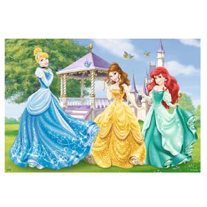 [当当自营]Ravensburger 睿思 迪士尼系列 花园和城堡中的公主 (2x12片) 儿童益智卡通拼图玩具 R075553