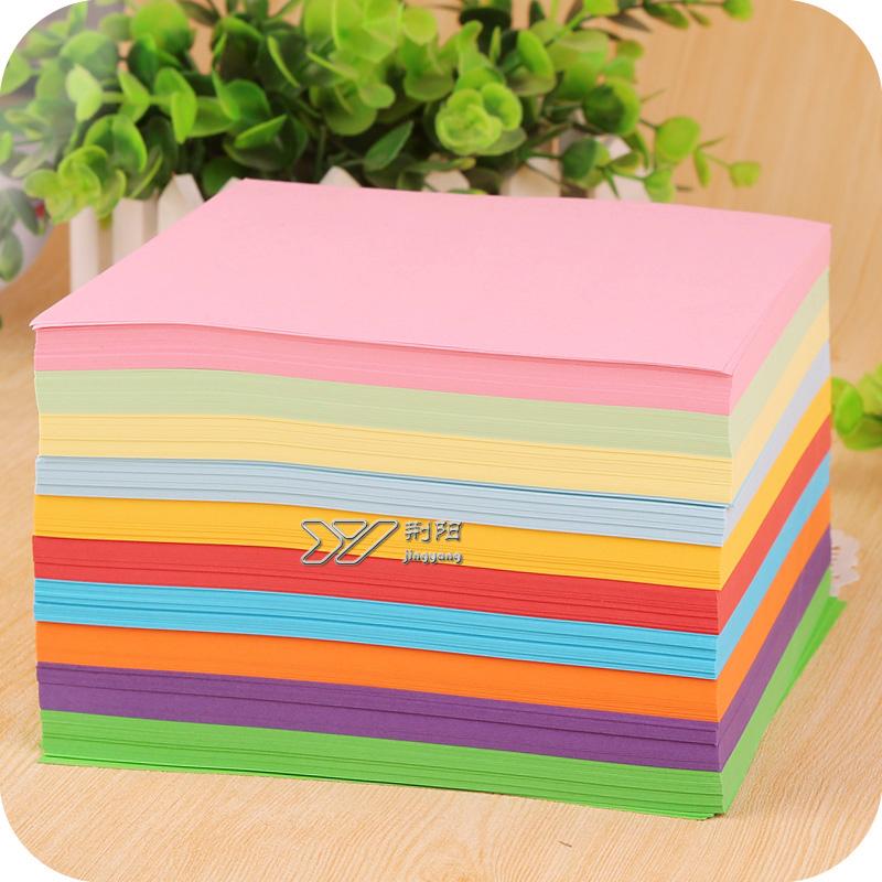 柏伦斯彩色手工纸 剪纸 千纸鹤材料15cm正方形手工玫瑰花折纸叠