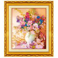 丝带绣 欧式彩印挂画 花语凝香 套件居家装饰