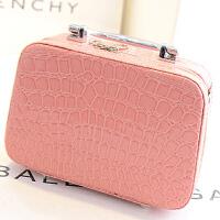 新款潮时尚 韩国可爱大容量化妆包 鳄鱼纹手提包 鳄鱼纹化妆包 箱旅行手提女包包袋 B1654