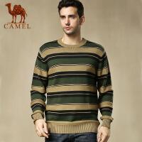 camel骆驼男装 新款圆领休闲针织衫时尚青春男士长袖毛衣