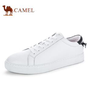camel骆驼男鞋 春季新款头层牛皮时尚休闲百搭男板鞋小白鞋