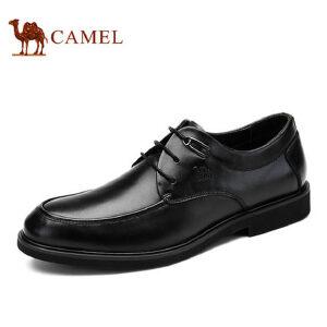 【满200减100】骆驼男鞋 新品 商务正装皮鞋男士商务英伦系带皮鞋男