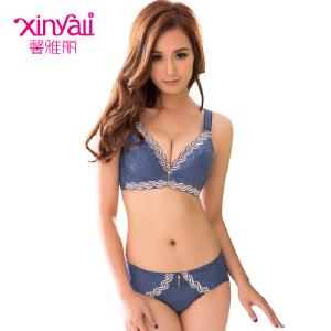 馨雅丽小胸MM加厚超聚拢性感调整型少女士夏季内衣文胸套装T1029