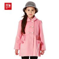 jjlkids季季乐童装女童冬装外套韩版中大童加厚呢大衣儿童外套GDW51092