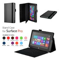 ikodoo爱酷多 微软Surface RT/Surface2/Surface3/Pro/Pro2 插卡支架型保护套 surface皮套 surface2保护壳 surface PRO1支架外壳 pro2皮套 RT2保护套 10.6英寸 10.8英寸 配件
