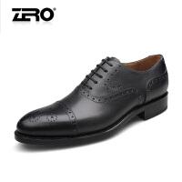 零度尚品 新品男鞋 固特异手工皮鞋 正装皮鞋商务男鞋91392