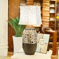 墨菲欧式现代田园陶瓷台灯 复古创意镂空书房卧室灯具