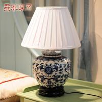 墨菲 中式青花瓷台灯简约时尚复古创意家居客厅卧室床头装饰灯具