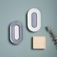 创意时尚带手提双格沥水肥皂架大号肥皂盒透明带盖香皂盒