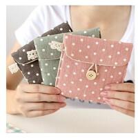 韩国清新波点纸巾包 复古时尚收纳包 零钱包 化妆包