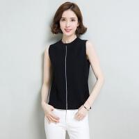 新款无袖T恤韩版冰丝针织衫背心女装宽松百搭显瘦上衣 潮  可礼品卡支付