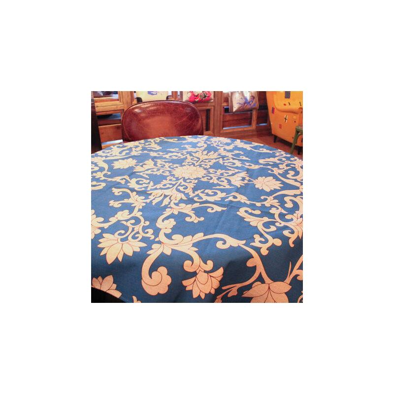 【一橙桌布/桌旗】中式古典复古花纹棉麻桌布