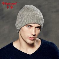kenmont冬季针织帽男中老年男士冬天帽子保暖套头帽韩版潮毛线帽1561