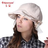 Kenmont时尚淑女帽 春夏天女士贝雷帽 韩版帽子女蓓蕾帽 防晒遮阳帽画家帽0443