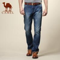 camel骆驼 男装 新款  水洗棉质直筒牛仔裤