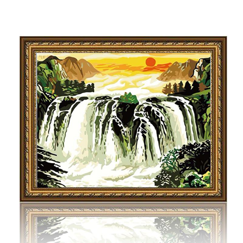 舞动色彩 气壮山河 diy数字油画风景彩绘装饰画 w0259