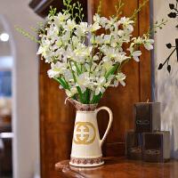 墨菲 欧式陶瓷小花瓶花器现代时尚家居装饰品创意复古客厅摆件