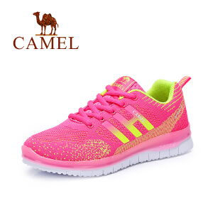 Camel/骆驼女鞋  秋季新品新款时尚彩色舒适中跟平跟运动鞋透气网鞋休闲鞋