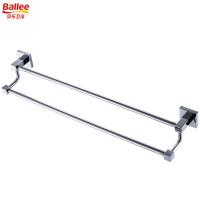 【货到付款】贝乐BALLEE G6210 全铜双杆毛巾架浴室挂件浴巾架 50cm