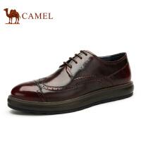 camel骆驼男鞋 英伦布洛克雕花鞋 秋季新款约会鞋