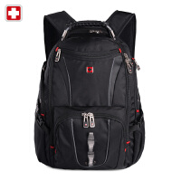 Swisswin瑞士军刀男女双肩包电脑包17寸户外防水旅行包电脑包