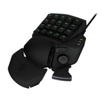 雷蛇(Razer)金丝魔蛛 2014  orbweaver 游戏 键盘  将FPS、RTS和MMORPG的各种命令和技能与20个触指可及的机械式按键相结合的机械式游戏*键盘!